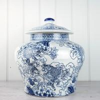 Large Blue Ginger Jar