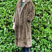 Olive Faux Fur Midi Coat