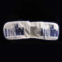 Oven Gloves: Highclere Castle - Blue