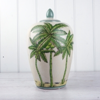Palm Tree Ginger Jar