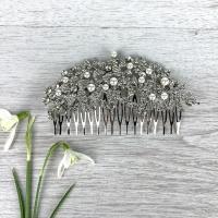 Pearl & Diamante Comb