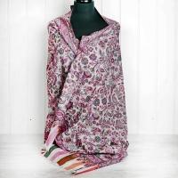 Pink Paisley Floral Cashmere Wrap