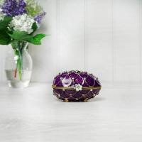 Purple Egg Trinket Box