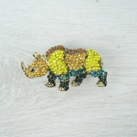 Rhino Brooch