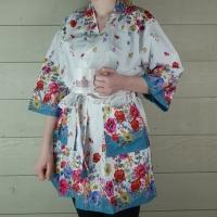 Short Cotton Dressing Gown