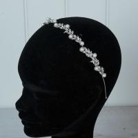 Silver Diamante & Pearl Tiara/hairdband