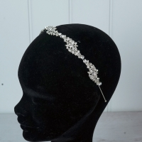 "Silver ""Zigzag"" Tiara/hairband"
