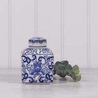 Small Flat Topped Ginger Jar