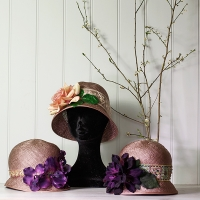Straw Cloche Hats