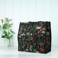 Tapestry Bag - Black Floral
