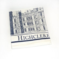 Navy Castle Outline Tea Towel