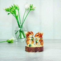 Two Red Squirrels Trinket Box