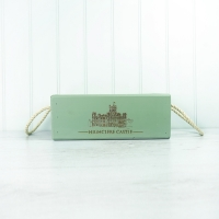 Vintage Style Green Wooden Box - large