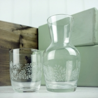 Water Carafe - etched design