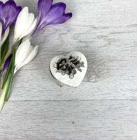 White Heart Trinket Box