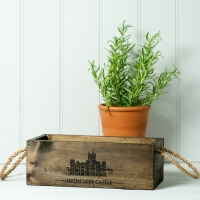 Vintage Style Brown Wooden Box - large