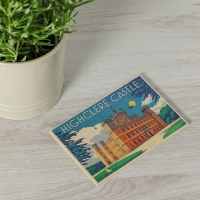 Art Deco Style Wooden Postcard
